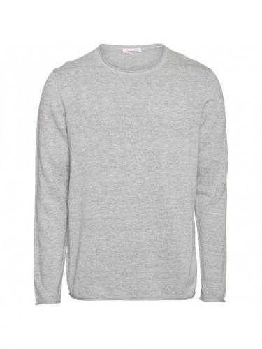 Forrest o-neck tencel knit - Grey Melange - Knowledge cotton apparel