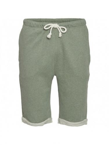 Teak Jog Short - Green Melange  - Knowledge cotton apparel