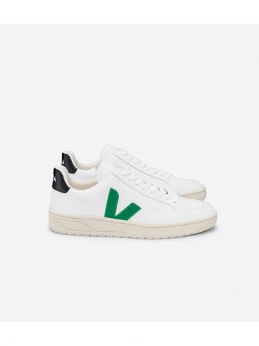 V12 leather - Extra White Emeraude Black - Veja