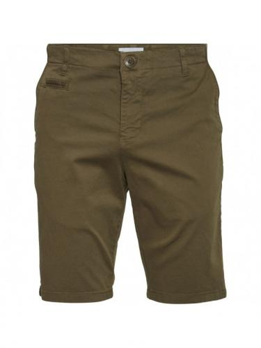 Chuck Regular Chino Short - Burned Olive - Knowledge cotton apparel