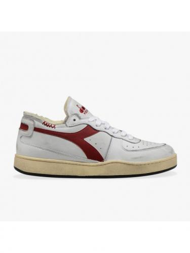 Mi Basket - Row Cut - Blanc/Rouge Grenat - Diadora