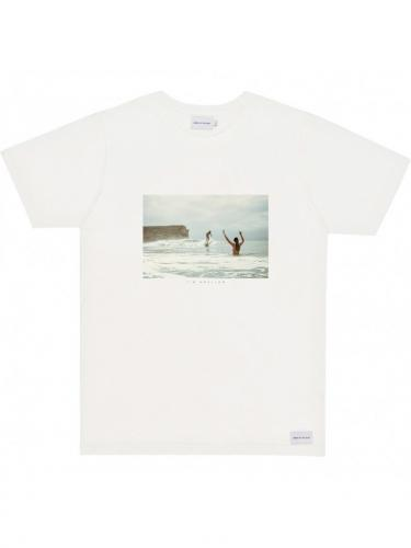 T-Shirt Surf Naked - Natural - Bask in the sun