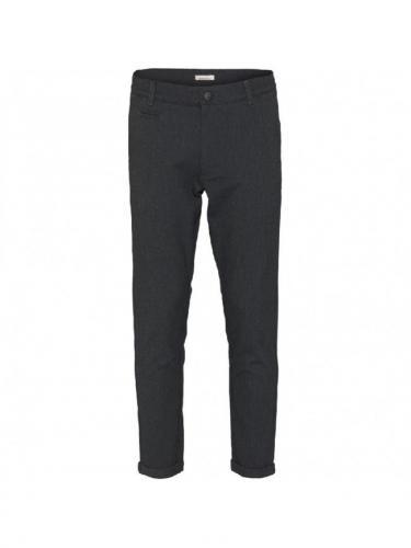 Chino Joe Slim Recycled - Dark Grey Melange - Knowledge cotton apparel