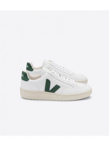 V12 leather - Extra White / Cyprus - Veja