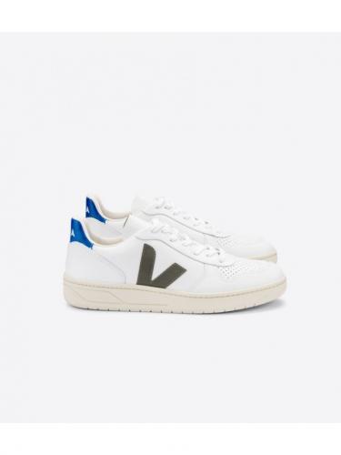 V10 Leather - White / Kaki / Indigo - Veja