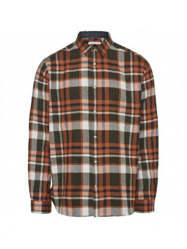 Chemise Larch Fit Checked - Forrest Night - Knowledge Cotton Apparel