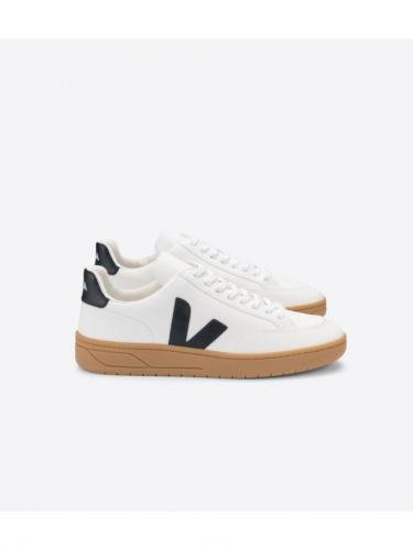 V12 Leather Chromefree - Extra White / Black / Gum Sole - Veja