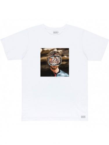 T-Shirt Mask - Natural - Bask in the sun