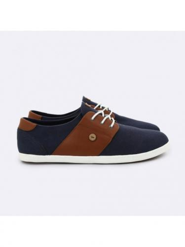Cypress Cotton Leather Tennis - Nav06 - Navy - Faguo
