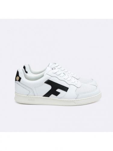 Hazel Baskets Leather - Whi35 - White  Black - Faguo