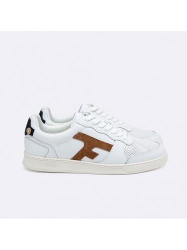 Hazel Baskets Leather - Whi47 White / Camel - Faguo