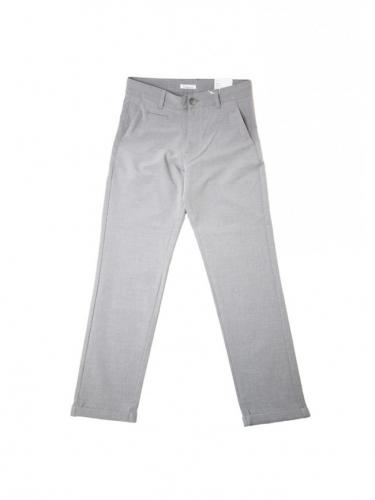 Pantalon Joe Classic EcoVero Club - Grey Melange - Knowledge cotton apparel