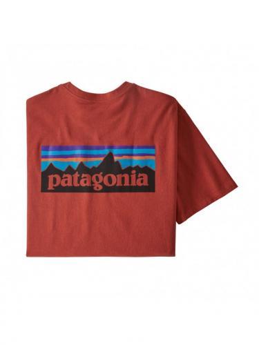 P-6 Logo Responsibili-Tee - Hot Ember - Patagonia