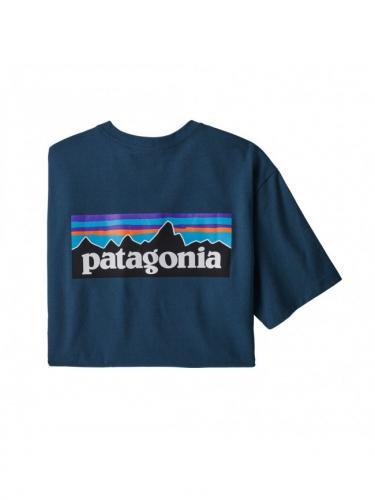 P-6 Logo Responsibili-Tee - Crater Blue - Patagonia
