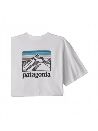 T-shirt Line Logo Ridge Pocket Responsibili-Tee - White -Patagonia