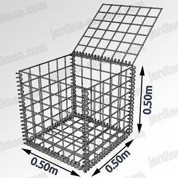 Gabion - cage métallique L.50cm