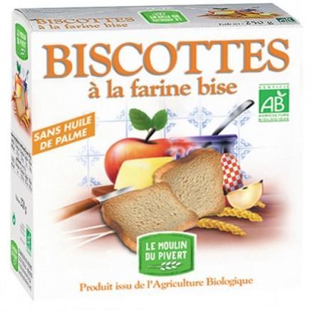 Biscottes à la farine bise bio