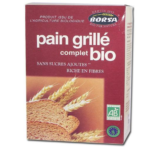 Pain grillé complet bio