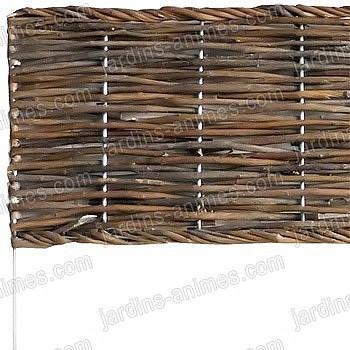 Bordure pliable acier osier 100cm