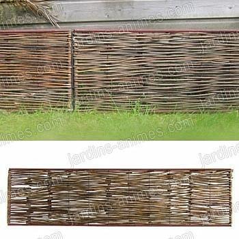 Bordure médiévale acier osier 180x45cm