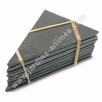 Ardoise triangulaire à piquer au sol 75x105mm x10