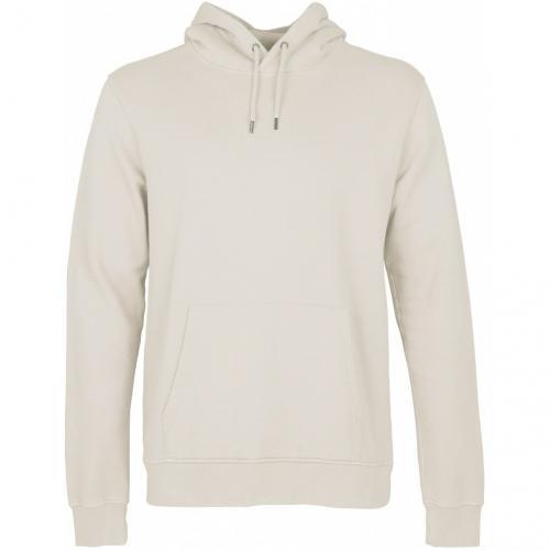 Sweat à capuche mixte écru en coton bio - ivory white - Colorful Standard