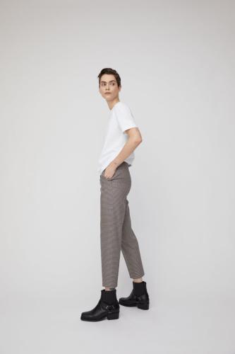 Pantalon à carreaux marron en tencel - varmaa microcheck - Armedangels