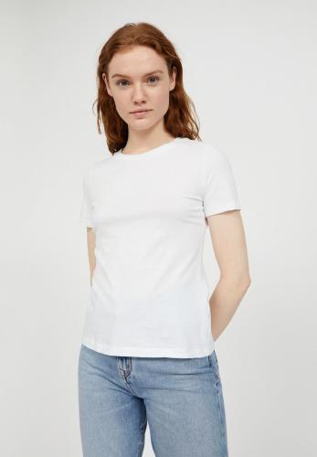T-shirt uni blanc en coton - lidaa - Armedangels