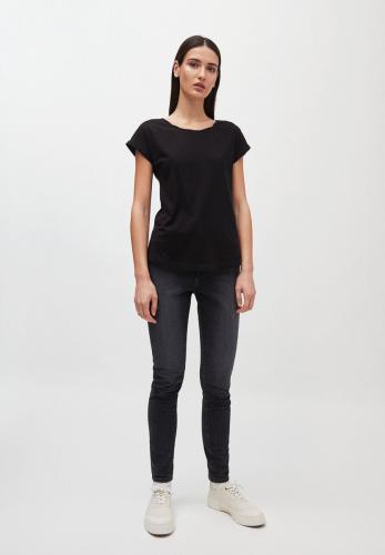 T-shirt uni noir en coton bio - laale - Armedangels