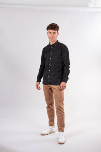 Pantalon droit en twill épais camel en coton bio - bob - Knowledge Cotton Apparel