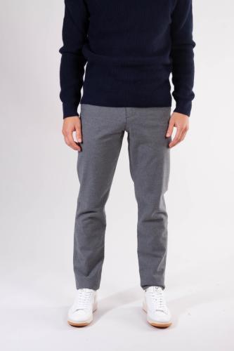 Chino droit flanelle gris en coton bio - chuck - Knowledge Cotton Apparel