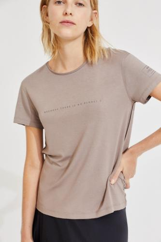 T-shirt taupe en lenzing - going - Ecoalf
