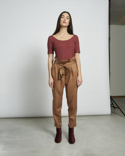 T-shirt framboise en coton bio - scoop - Jan'n June