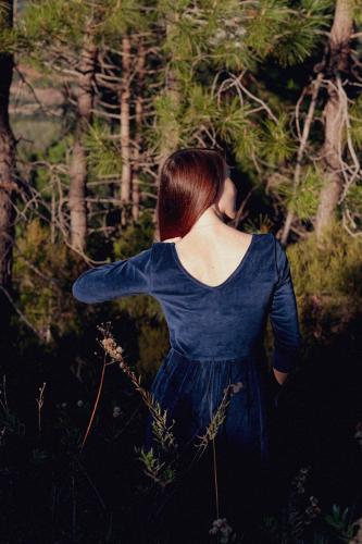 La Robe Écume - bleu nuit - Atelier Unes