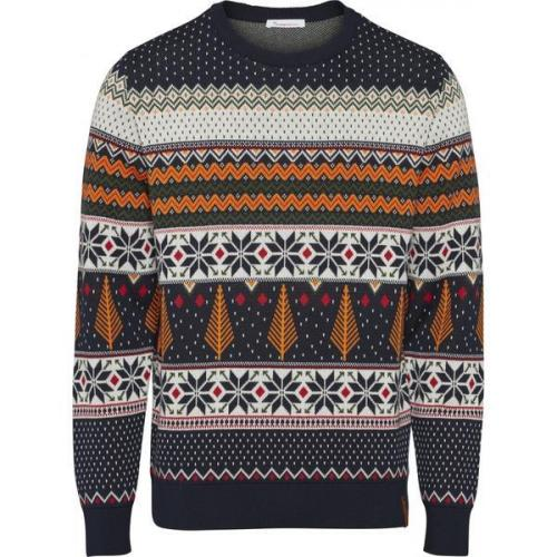 Pull à motifs en coton bio - xmas knit - Knowledge Cotton Apparel