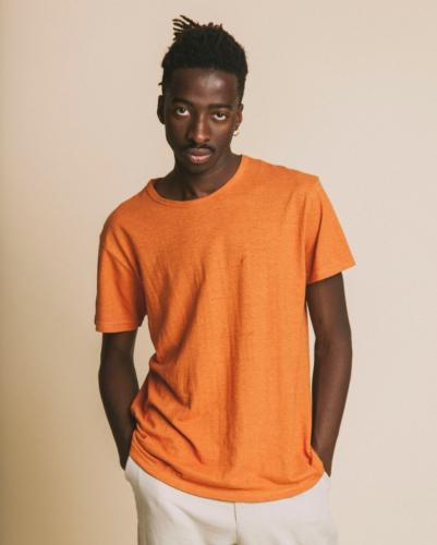 T-shirt terracotta en chanvre et coton bio - Thinking Mu