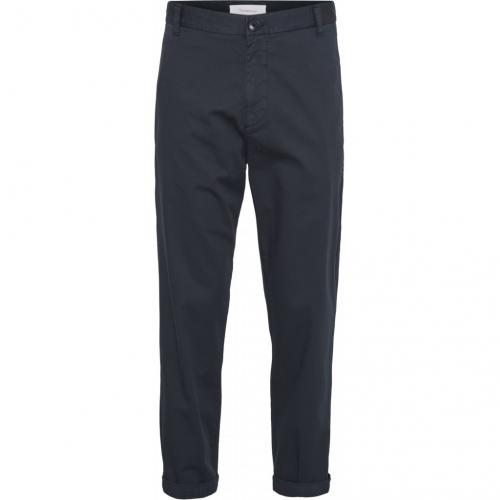 Chino ample bleu nuit en coton bio - bob - Knowledge Cotton Apparel
