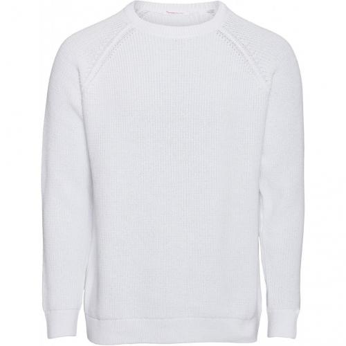 Pull blanc en coton bio - valley - Knowledge Cotton Apparel