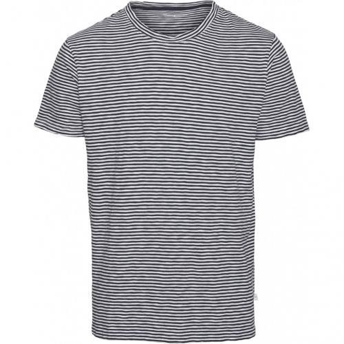 T-shirt rayé bleu nuit et blanc en coton bio - alder - Knowledge Cotton Apparel