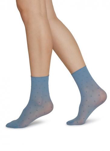 Pack 2 paires de chaussettes bleu et crème en polyamide recyclé - Swedish Stockings