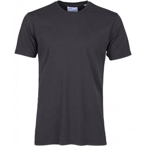 T-shirt gris encre en coton bio - lava grey - Colorful Standard