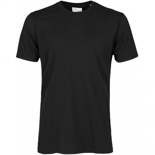 T-shirt noir en coton bio - deep black - Colorful Standard
