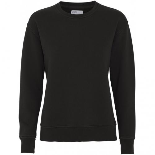 Sweat noir en coton bio - deep black - Colorful Standard
