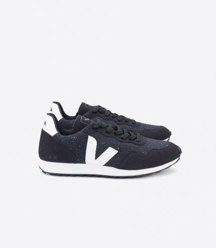 Baskets sdu flannel dark black white - Veja