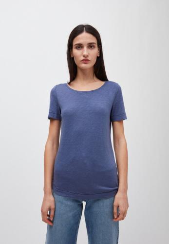 T-shirt bleu indigo en coton bio - johannaa - Armedangels