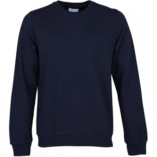 Sweat marine en coton bio - navy blue - Colorful Standard