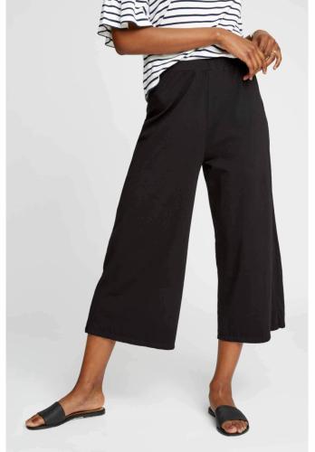 Pantalon large 3/4 noir en coton bio - chandre - People Tree
