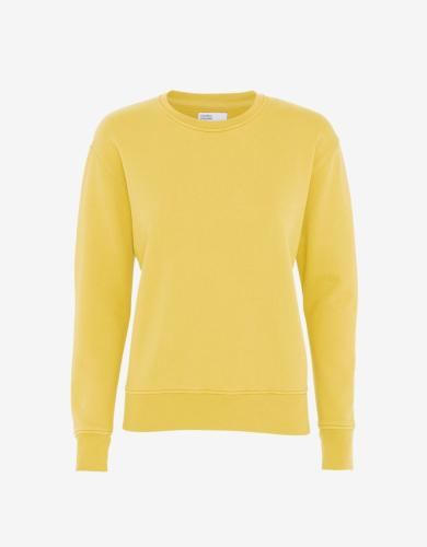 Sweat jaune clair en coton bio - lemon yellow - Colorful Standard