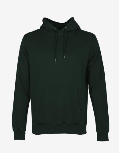 Sweat à capuche vert foncé en coton bio - hunter green - Colorful Standard