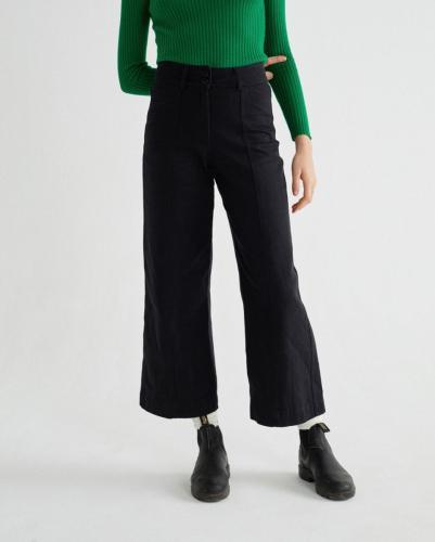 Pantalon large noir en chanvre et coton bio - kupalo - Thinking Mu